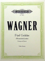 R. Wagner: Wesendonk-Lieder. Edition Peters No. 3445b