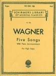 R. Wagner: Wesendonk-Lieder. Schirmer's Library of Musical Classics, Vol. 1233